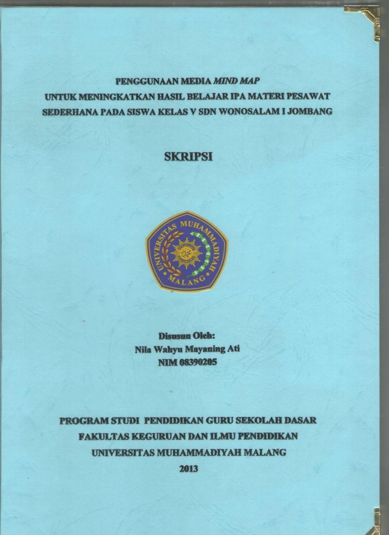 Format Akhir Skripsi Skgj Sarjana Kependidikan Guru Dalam Jabatan Universitas Muhammadiyah Malang